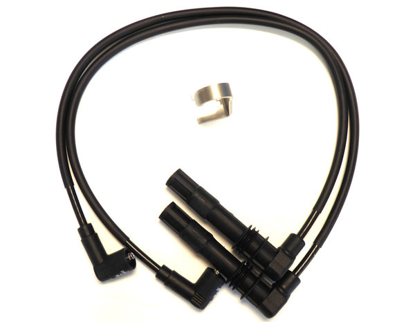 Ignition Cable Set incl. Spark Plug Connector Removal Tool - Black - Fits all Single Spark 4-V BMW