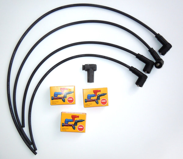 Ignition Cable Set for Twin Spark Ignitions with BERU Coils - Underwaterproof