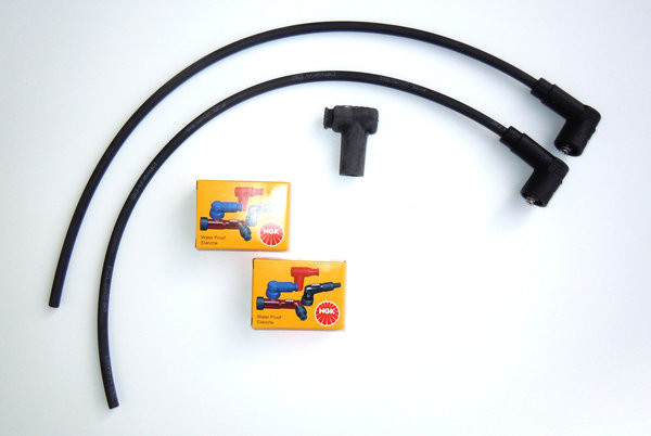 Ignition Cable Set for Single Spark Ignitions with BERU Coils - Underwaterproof